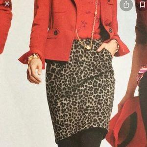 Cabi Jungle Leopard Cheetah Animal Print Skirt 16